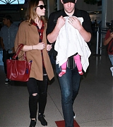 Emily Blunt with John and Hazel at At LAX - October 27th