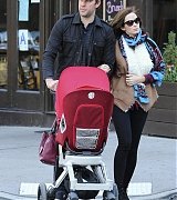 Emily and John Brings Baby Hazel Out in Tribeca - October 19