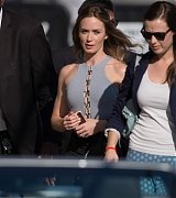 Emily Blunt Arrives at Jimmy Kimmel Show - September 9