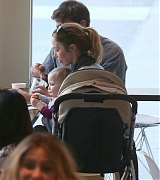 Emily Blunt Family Outing For Lunch in Los Angeles - January 24