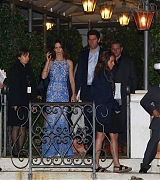 Emily and John at At Ivo Restaurant for George and Amal Rehearsal - September 26