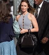 Emily Blunt Arrives at Jimmy Kimmel Show - September 9